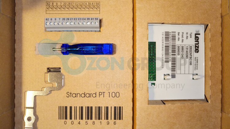 Lenze Type E82ZAFSC100/S Package content - type E82ZAFSC100 Type PT (pluggable terminals) I/O module Standard I/O Функциональный модуль
