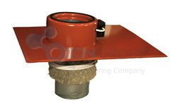 Systemair TOS 200-315  Roof curb Red